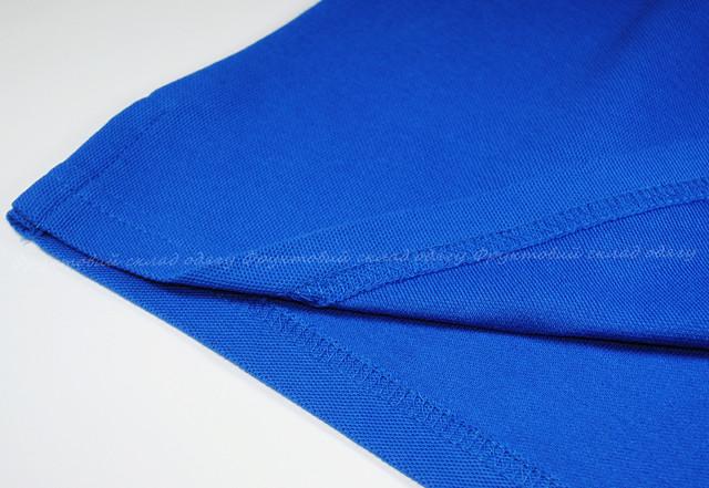 Комбинированное мужское поло - Ярко-синий/Белый