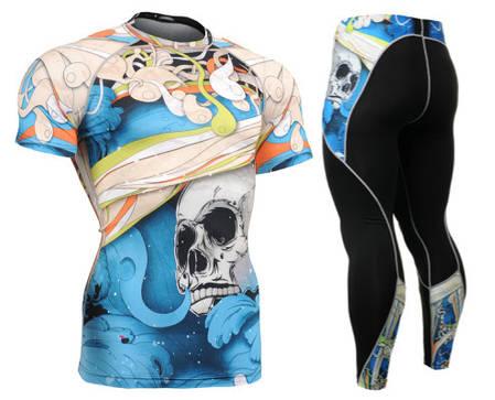Комплект компрессионная футболка Fixgear и компрессионные штаны CFS-19B+P2L-B19B, фото 2