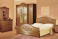 Спальня изящная шкаф-купе двухи трех дверный, прикроватные тумбы, комод, зеркало,кровать без матраса Роксолана