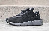 Кроссовки мужские Nike air huarache grey and black. найк аир хуараче, интернет магазин обуви