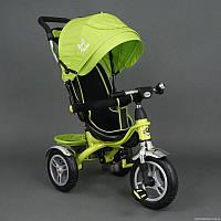 Велосипед трехколесный с фарой Best Trike 5388  (надувные колеса), салатовый