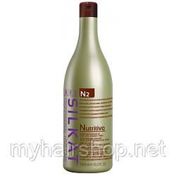 Бальзам для сухих, обесцвеченных и ломких волос,несмываемый BES SILKAT NUTRITIVO N2 1000 мл