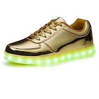 Золотые LED кроссовки LEDKED Glance Gold светящиеся взрослые , фото 1