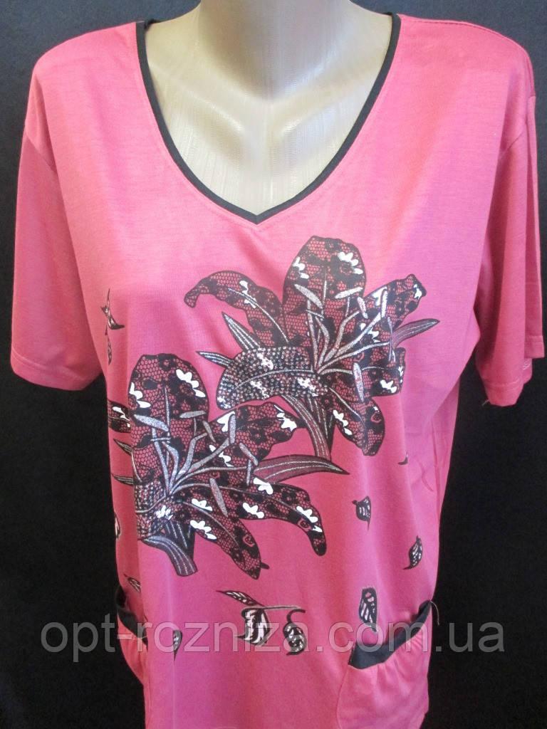 Трикотажные футболки для женщин на лето.