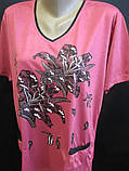 Трикотажные футболки для женщин на лето., фото 3