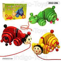 Деревянная игрушка Каталка MD 0138 (24шт) 3 вида, в кор-ке, 18-12-11см