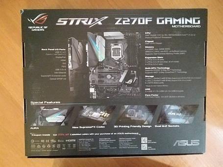 Материнская плата Asus Strix Z270F Gaming, фото 2