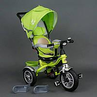 Велосипед трехколесный с поворотным сиденьем Best Trike 5688 (надувные колеса), салатовый