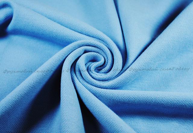 Комбинированное мужское поло - Небесно-голубой/Белый