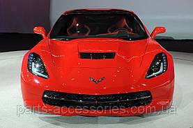 Эмблема значок на передний бампер Chevrolet Corvette 2014-2017 Новый Оригинальный