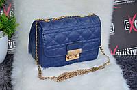 Сумка Miss Dior mini, синяя.
