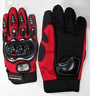 Перчатки Pro-Baiker под пальцы с пластиковой защитой