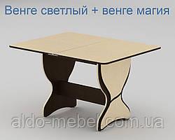 Стол кухонный КС - 4 Раскладной Габариты Ш - 590 мм; В - 732 мм; Г - 900 мм (Общая 900х716х1180) (Компанит)
