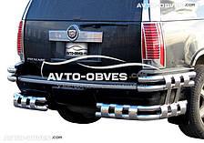 Защита задняя Cadillac Escalade ESV (2007-2014), углы двойные двухуровневые