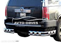 Защита заднего бампера Cadillac Escalade ESV (2007-2014), углы двойные