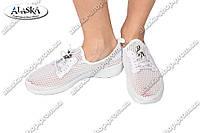Женские кроссовки белые (Код: 1750-4)