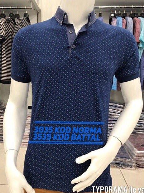 Модная футболка с воротничком поло и пуговками