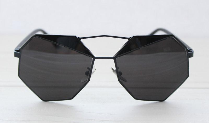 Геометрические черные солнцезащитные очки для женщин