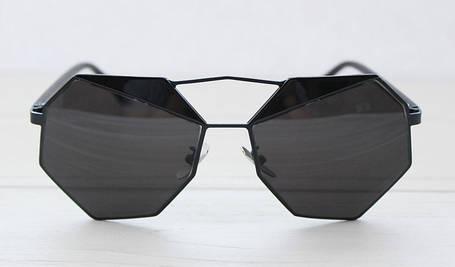 Геометрические черные солнцезащитные очки для женщин, фото 2