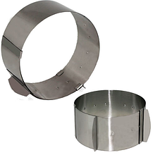 Кулинарное сервировочное кольцо раздвижное (d-от 16см до 30см, h-8см)