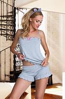 Женская пижама с шортами Elian Eldar серого цвета.