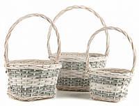 Набор плетеных корзин (3 шт.)