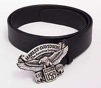 Мужской кожаный ремень Harley Davidson, фото 1
