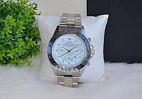 Мужские часы Rolex серебристые.