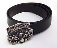 Кожаный ремень Harley Davidson для джинс