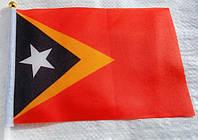 Флажок Восточного Тимора 13x20см на пластиковом флагштоке