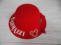 Детская стильная фетровая шапка для девочки с полями  р 52