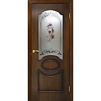 Двери Омис Виктория СС+ФП орех лесной (шпон)