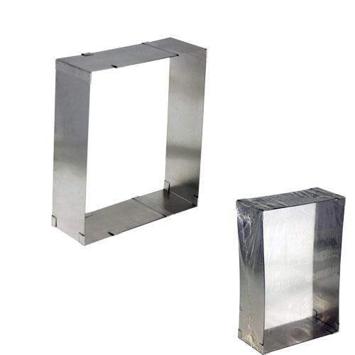 Кулинарная сервировочная раздвижная квадратная форма (d-от 27х18 см до 52х34см, h-9см)