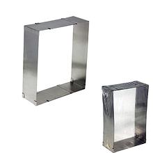 Кулинарная сервировочная раздвижная прямоугольная форма (d-от 12х16 см до 21,7х29,9см, h-5см)