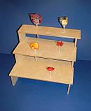 Подставка для конфет, кексов, капкейков заготовка для декупажа и декора, фото 4