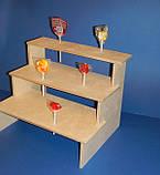 Подставка для конфет, кексов, капкейков заготовка для декупажа и декора, фото 5