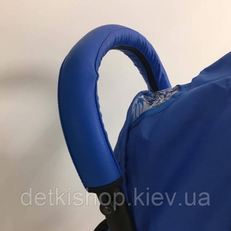 Чехол на ручку и бампер детской коляски (синий)