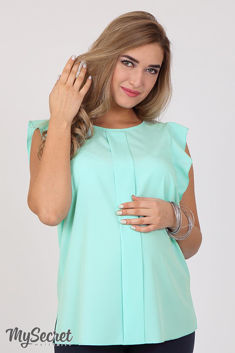 3c32eed179cad27 Блузка для беременных Hilda, мятная - Интернет-магазин