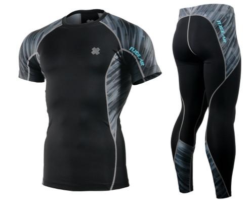Комплект компресійна футболка Fixgear і компресійні штани C2S-B67+P2L-B67