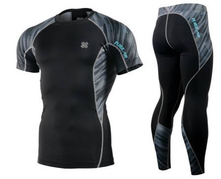 Комплект компресійна футболка Fixgear і компресійні штани C2S-B67+P2L-B67, фото 2