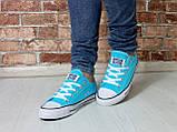 Кеды Converse All Star Голубые, фото 4