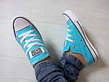 Кеды Converse All Star Голубые, фото 5