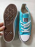 Кеды Converse All Star Голубые, фото 8