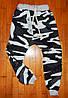 Детские спортивные штаны для мальчика Камуфляж черные 7 лет