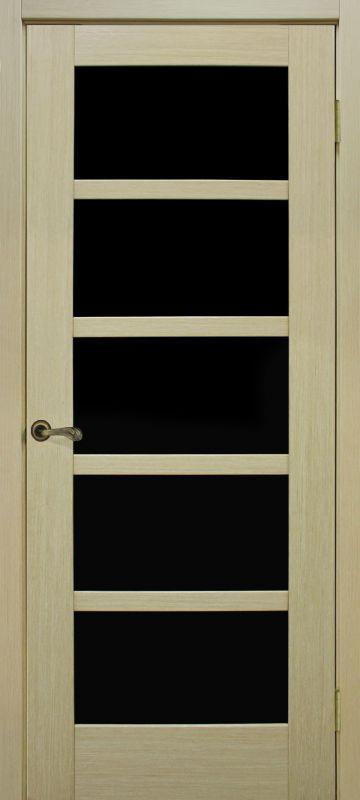 Двери Омис Вена ЧС дуб беленый (шпон)