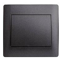 Выкл 1ный  OSCAR Черный (10шт)  (Графитовый металик)