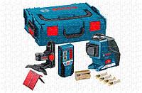 Линейный лазерный нивелир Bosch GLL 3-80 P Professional + BM1 + LR2 + L-BOXX