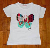 Детская футболка для девочки Ромашка белая 1-2 лет