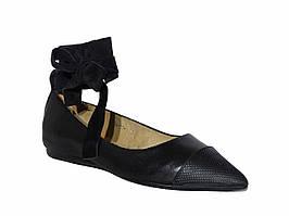 Женские кожаные балетки Dali Fashion  №D356A-01
