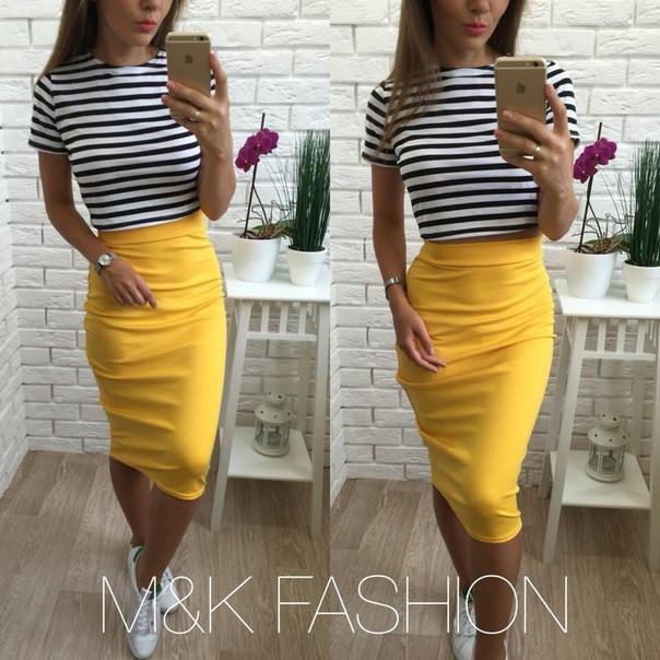 151a64e68f6 Костюм кофта топ морячка юбка карандаш миди - Дом моды - женская одежда от  производителя.